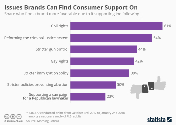 Brand Value Infographic - Issues Brands Can Find Consumer Support On