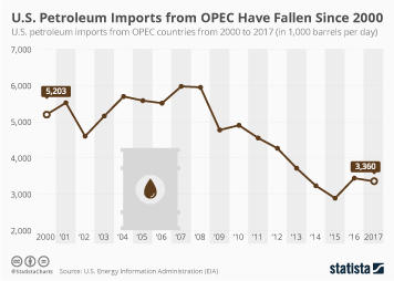 U.S. Petroleum Imports from OPEC Have Fallen Since 2000