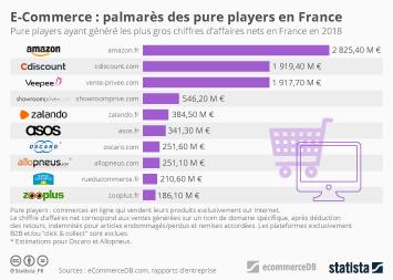 E-Commerce : palmarès des pure players en France