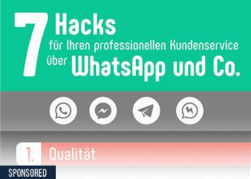 7 Hacks für Kundenservice über WhatsApp & Co.