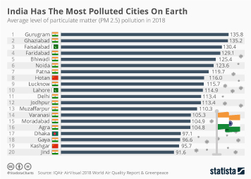 Environmental pollution Infographic - India Has The Most Polluted Cities On Earth