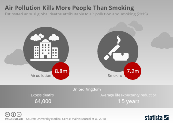 Smoking Infographic - Air Pollution Kills More People Than Smoking