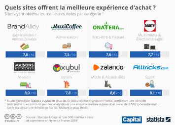 Quels sites offrent la meilleure expérience d'achat ?