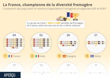 Le fromage en France Infographie - La France, championne de la diversité fromagère