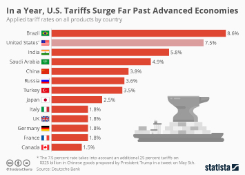 In a year, U.S. Tariffs Surge Far Past Advanced Economies