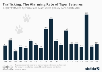 Trafficking: The Alarming Rate of Tiger Seizures