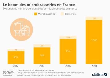 La consommation de bière en France Infographie - Le boom des microbrasseries en France
