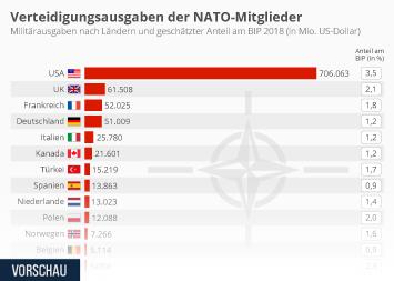 Was die NATO-Staaten fürs Militär ausgeben