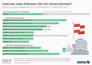 Social Media in Österreich Infografik - Und wie viele Follower hat Ihr Unternehmen?