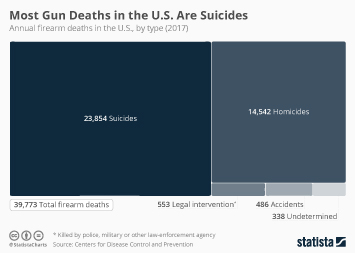 Most Gun Deaths in the United States Have a Tragic Motive