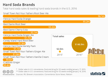 Hard Soda in the U.S. Infographic - Best Selling Hard Soda Brands in the U.S.