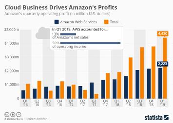 Amazon Infographic - Cloud Business Drives Amazon's Profits