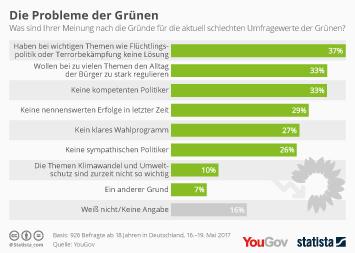 Bündnis 90/Die Grünen Infografik - Die Probleme der Grünen