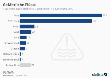 Todesursachen Infografik - Gefährliche Flüsse