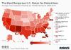 most dangerous states for pedestrians