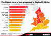 The highest rates of teen pregnancy in England & Wales