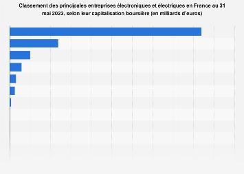Capitalisation boursière des entreprises électriques et électroniques en France 2019