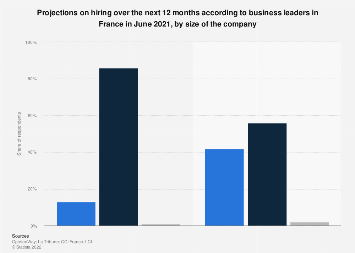 Hiring objectives of business leaders in France February 2019, by company size