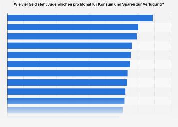 Umfrage unter Jugendlichen zum verfügbaren monatlichen Einkommen nach Bundesland 2019
