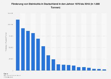 Steinkohle - Förderung in Deutschland bis 2017