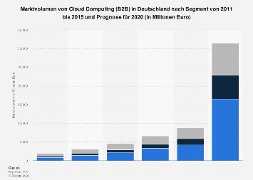 Umsatz mit Cloud Computing (B2B) in Deutschland nach Segment bis 2020