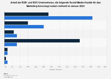 Einsatz von sozialen Netzwerken für das Marketing von B2B- und B2C-Unternehmen 2019
