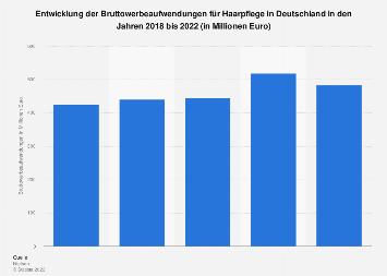 Werbeausgaben für Haarpflege in Deutschland bis 2016