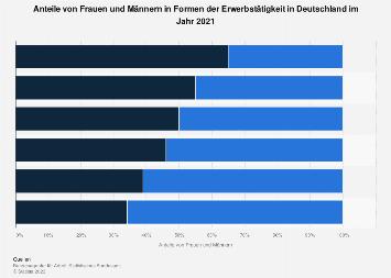 Formen der Erwerbstätigkeit in Deutschland nach Geschlecht 2016