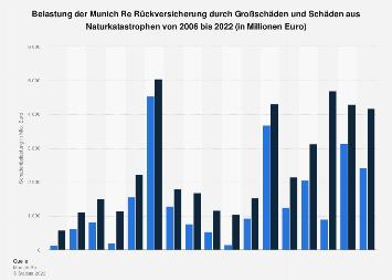 Belastung der Munich Re Rückversicherung durch Schäden aus Naturkatastrophen bis 2017
