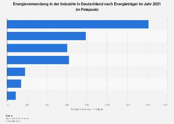 Deutsche Industrie - Energieverwendung nach Energieträger 2016
