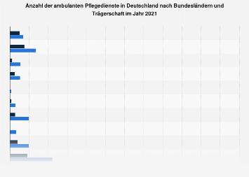 Ambulante Pflegedienste in Deutschland nach Bundesländern und Trägerschaft 2013
