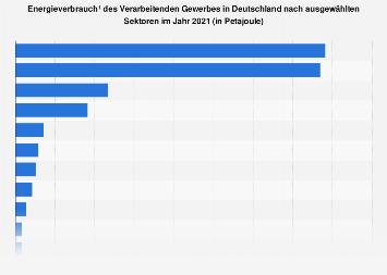 Verarbeitendes Gewerbe - Energieverbrauch in Deutschland nach Wirtschaftszweig 2017