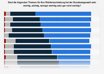 Bedeutung von Themen für die Wahlentscheidung bei der Bundestagswahl 2017
