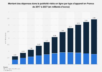 Investissements dans la vidéo publicitaire en ligne en France 2011-2017