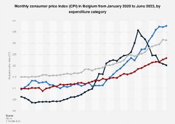 Consumer price index (CPI) in Belgium 2017-2018, by expenditure category