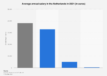 Netherlands: average annual salary and bonuses 2018