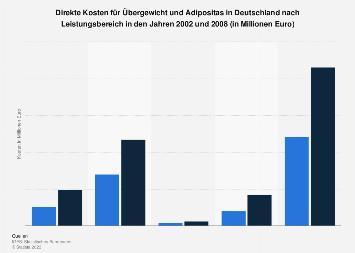 Kosten für Übergewicht und Adipositas in Deutschland nach Leistungsbereich 2008