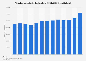 Tomato production in Belgium 2006-2016