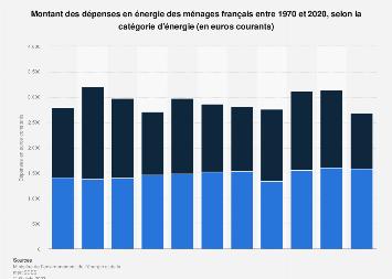 Dépenses énergétiques domestiques et en carburants des ménages français 1973-2015