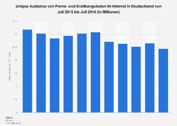 Unique Audience von Porno- und Erotikangeboten im Internet in Deutschland bis 2016