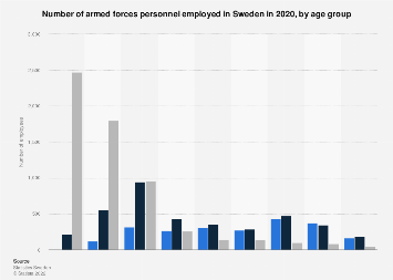 Armed forces personnel in Sweden 2015, by age