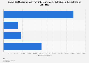 Neugründung von Unternehmen in Deutschland im 1. Halbjahr 2018