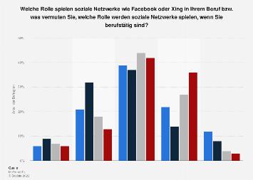 Umfrage zu sozialen Netzwerken im Beruf in Deutschland 2017 nach Tätigkeit