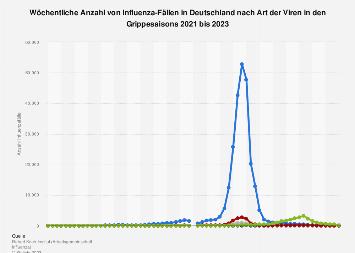 Fälle von Influenza nach Art der Viren in Deutschland in der Grippesaison 2017/2018