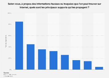 Type de supports en ligne qui propagent les «fake news» selon les Français 2019