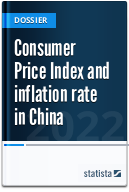 Consumer Price Index and inflation rate in China