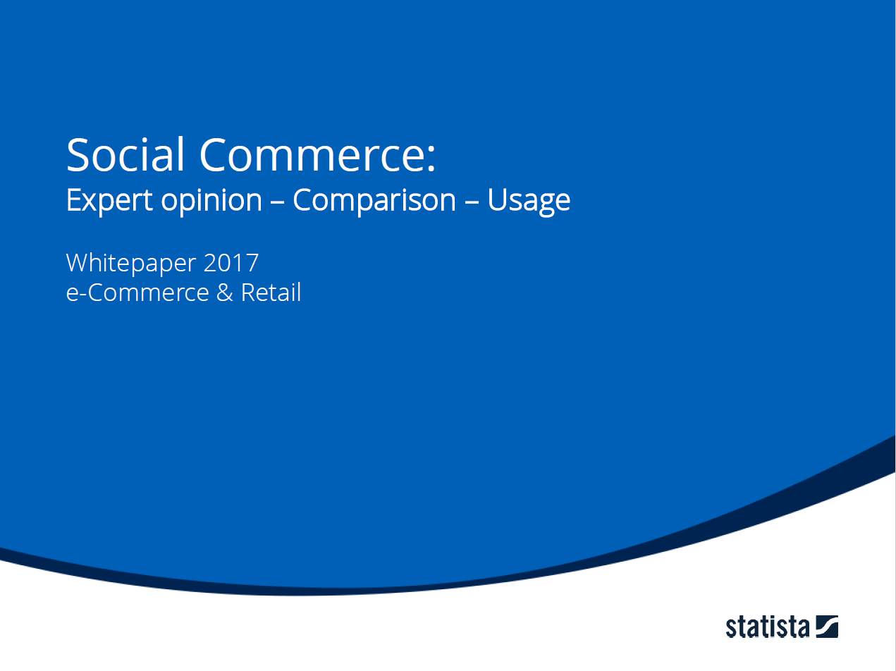 Social Commerce: Expert opinion - Comparison - Usage