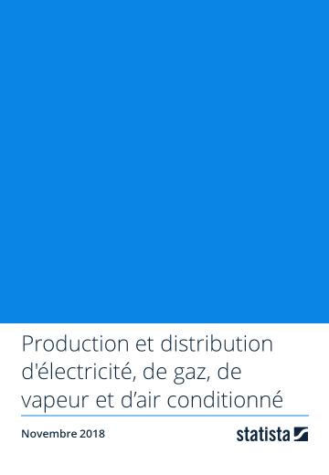 Production et distribution d'électricité, de gaz, de vapeur et d'air conditionné 2018