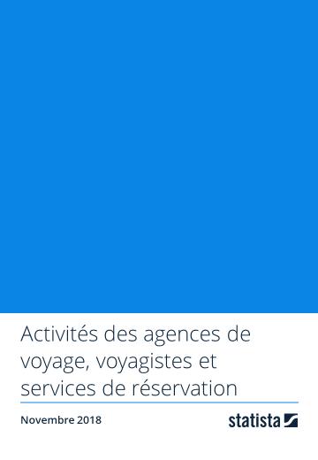 Activités des agences de voyage, voyagistes et services de réservation 2018