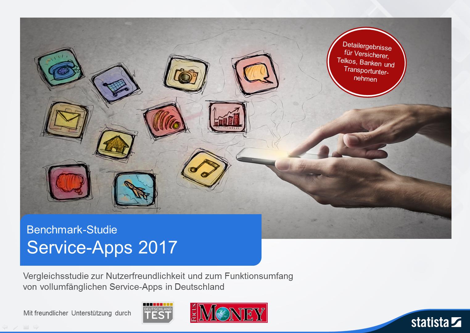 Benchmark Studie - Service-Apps 2017